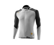Skins C400 Men\'s Long Sleeve Jersey white/grey